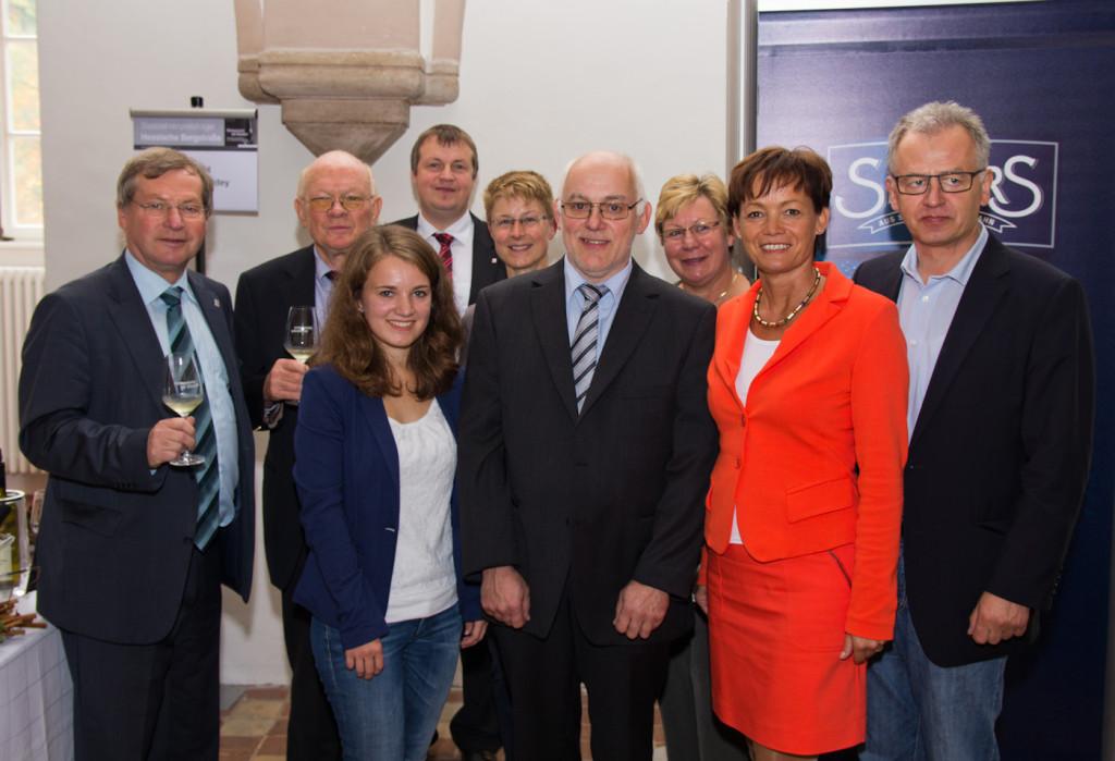 Christa Guth mit Volker Dingeldey und Staatsministerin Lucia Puttrich