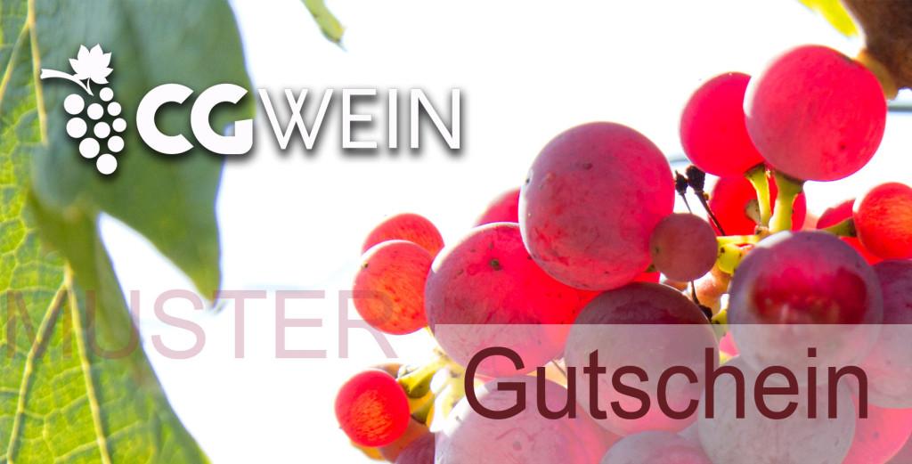 Beispiel Gutschein für Weinprobe