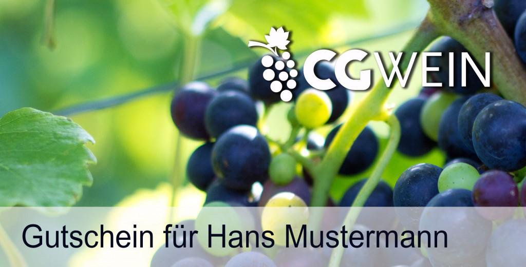 Gutschein Weinprobe personalisiert