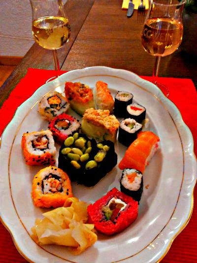 Shushi und Wein 11