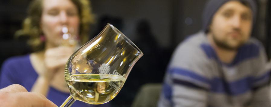 Weinprobe mit Weinen der Hessischen Bergstraße